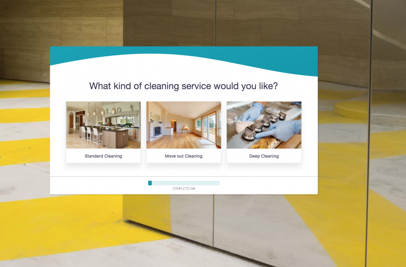 Cleaner Form Template & Booking System